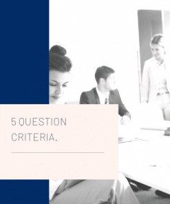 5 selection criteria questions