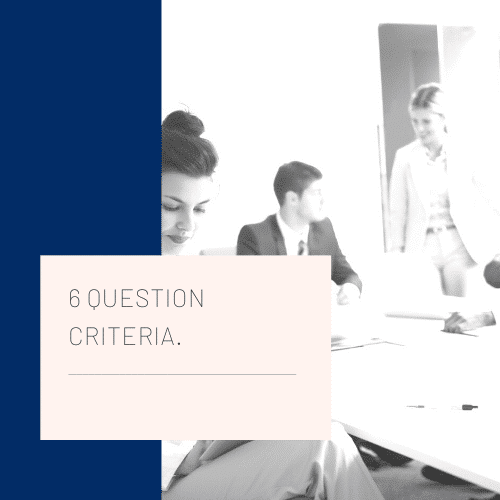 6 Selection Criteria Questions