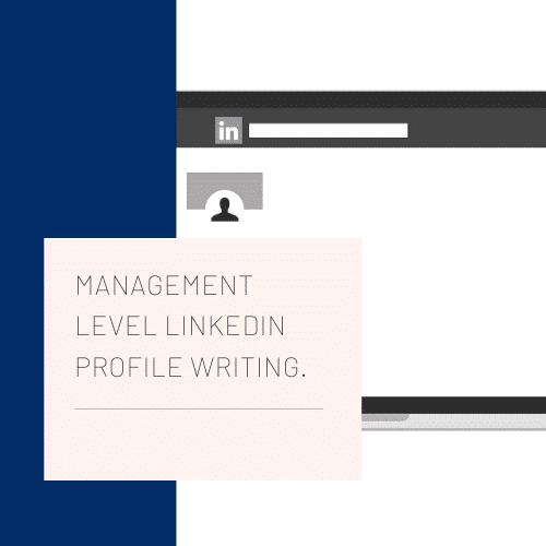 Management LinkedIn profile writing