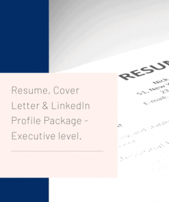 Executive Level Resume Writing