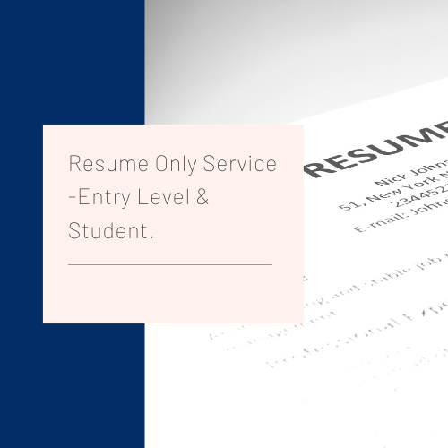 Resume Only Service Entry Level Student