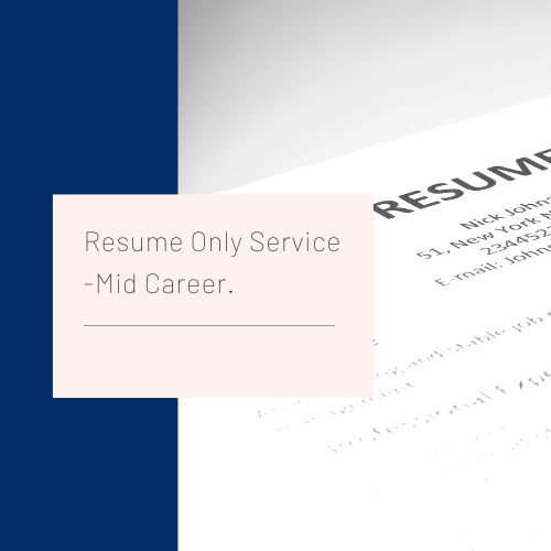 Resume Only Service Mid Career