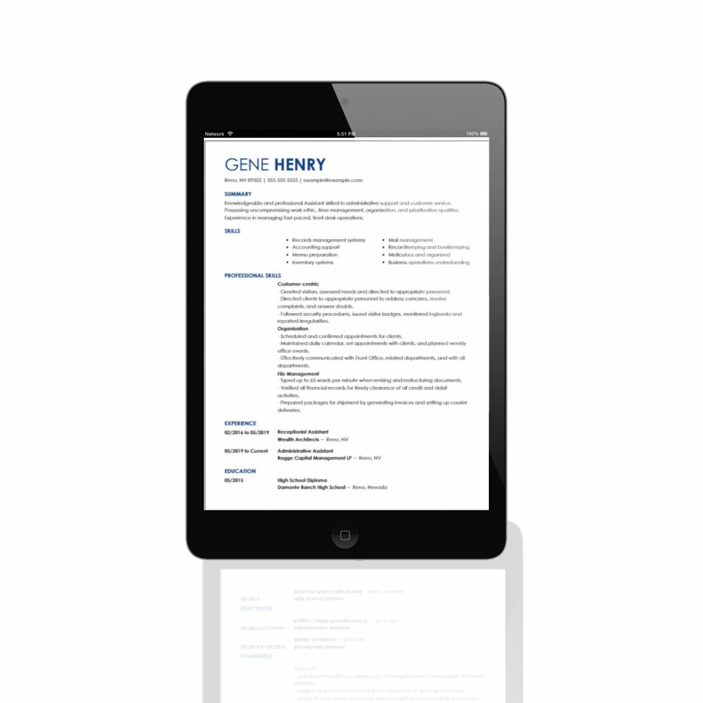 Resume Example Resumes To You